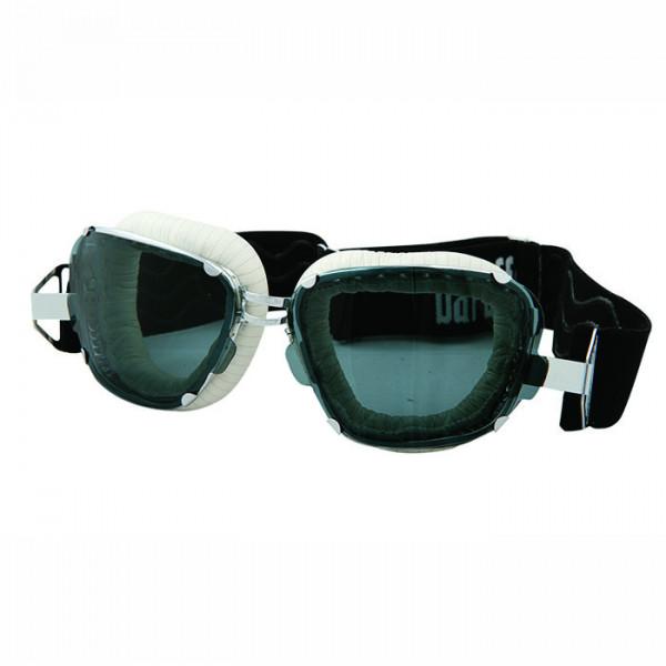 Motorcycle goggles Baruffaldi Inte 259 white striped