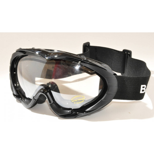 Black Saratic Baruffaldi motorcycle goggles
