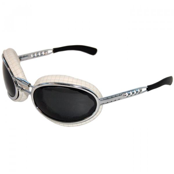 Sfericum Baruffaldi White Padded Motorcycle Eyewear