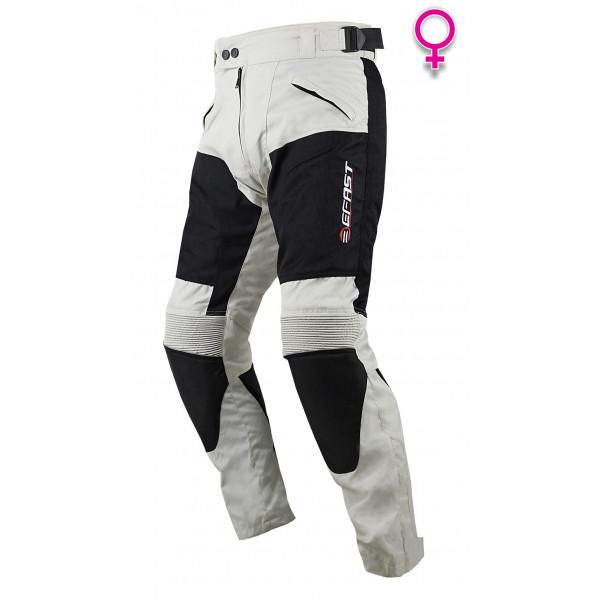 Pantaloni moto donna estivi Befast NewSun Evo Lady Grigio