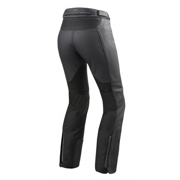 Rev'it Ignition 3 woman leather and tex long trousers Black