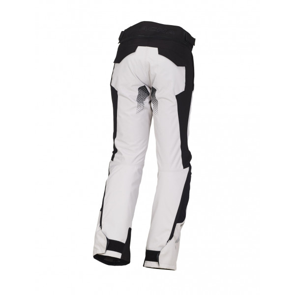 Macna touring trousers Iron WP light grey black