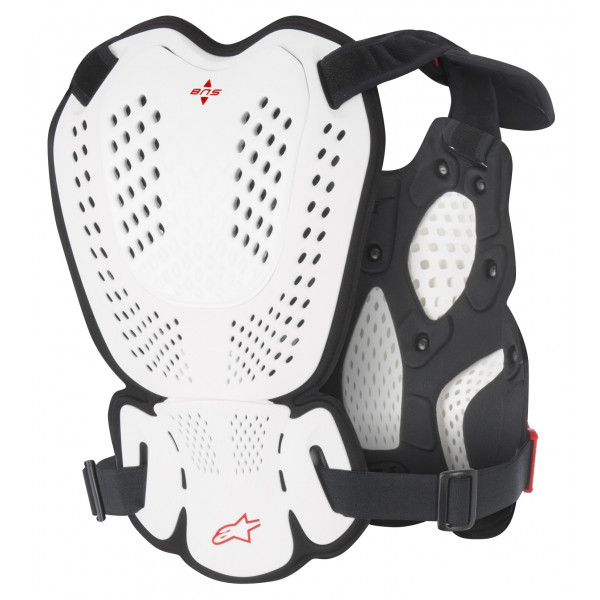 Alpinestars A-1 Roost chest protection white black red