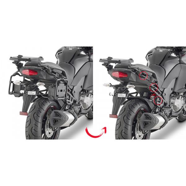 Portavaligie laterale Givi specifico per valigie MONOKEY per Kawasaki Versys 1000 2017/2018