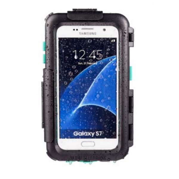 Smartphone holder Midland for Galaxy S7E with hooking system for tubular handlebars