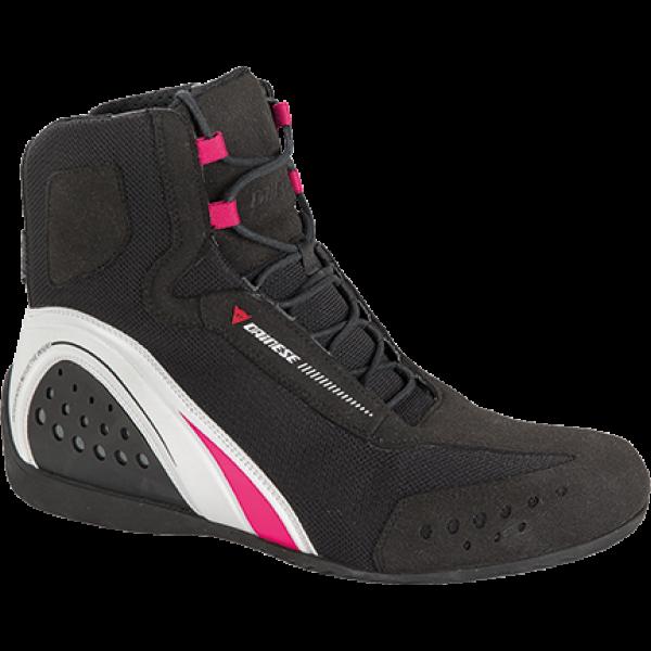 Dainese Motoershoe Lady D-WP JB boots black white fuchsia
