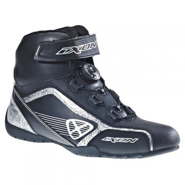 Ixon Assault Lady motorcycle Shoes Assault Black Silver