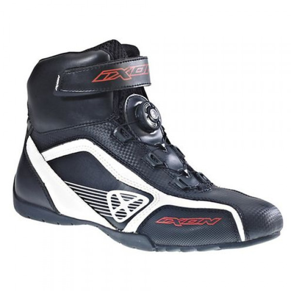 Ixon Assault motorcycle Shoes Black White Red