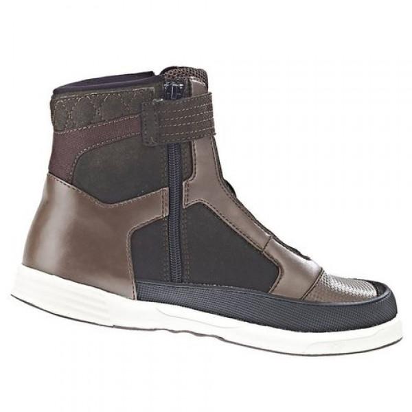 Ixon SLACK WP motorcycle Shoes Brown White