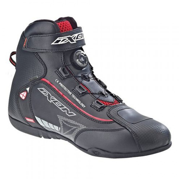 Ixon SOLDIER motorcycle Shoes Black Red