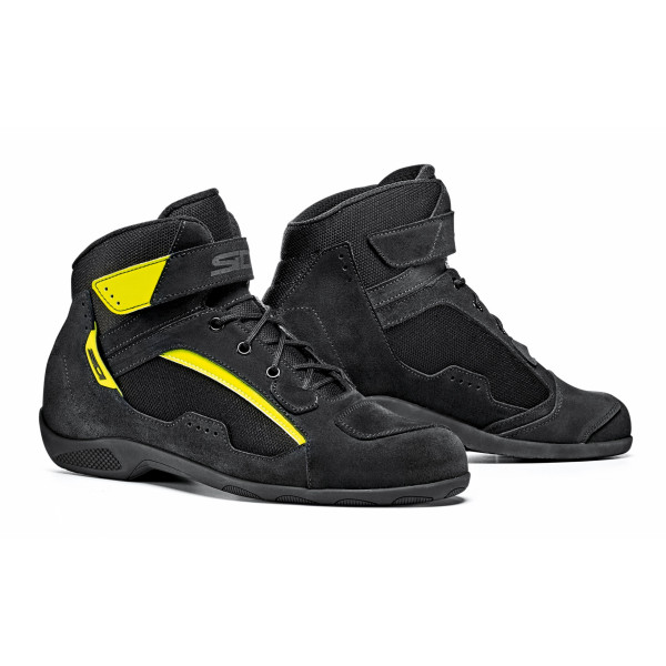 Sidi Duna motorcycle shoes black yellow fluo