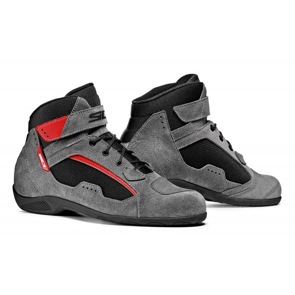 Sidi Duna motorcycle shoes black grey red