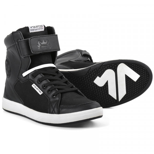 VQuattro MILANO EVO motorcycle shoes Black