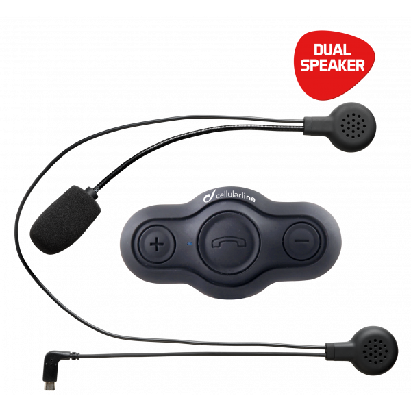 Cellular Line BTEASY DUAL is a wireless pilot-passenger communication system.