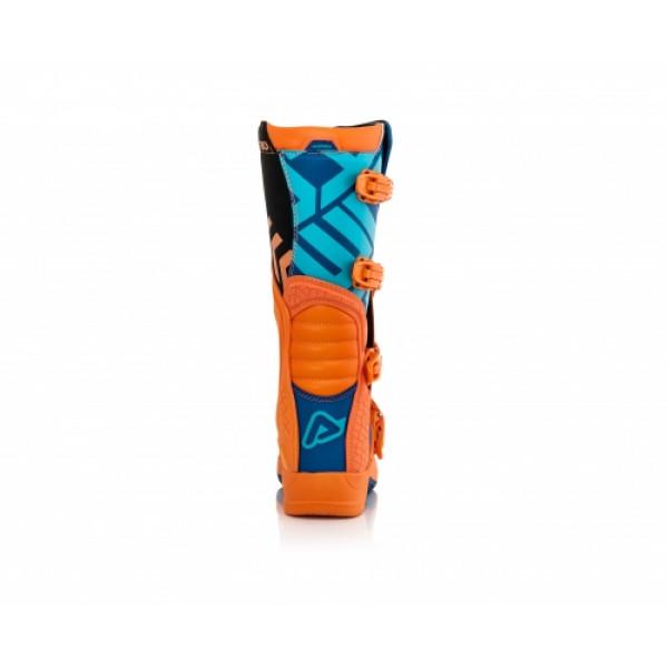 Acerbis X-Team cross boots Orange Blue