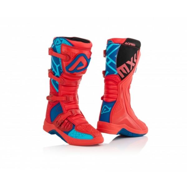 Acerbis X-Team cross boots Blue Red