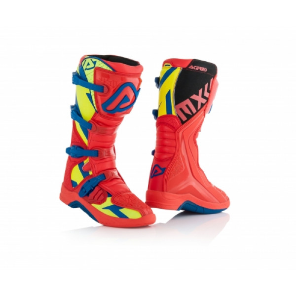 Acerbis X-Team cross boots Red Yellow
