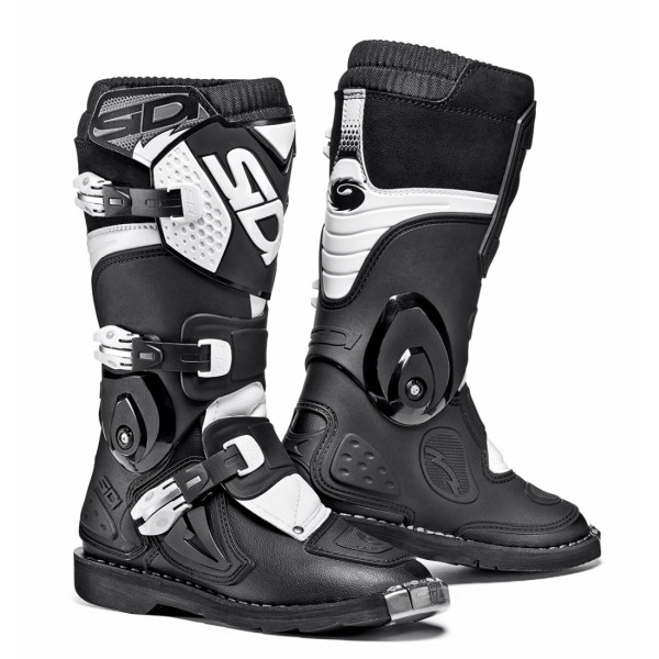 Sidi Flame kid offroad boots black white