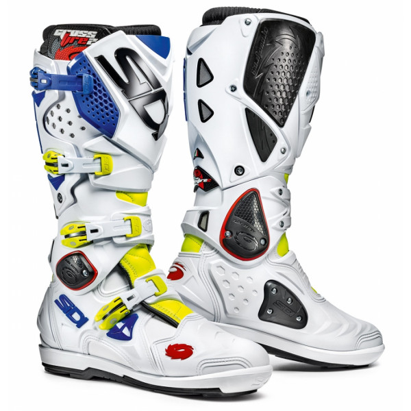 Sidi Crossfire 2 SRS offroad boots yellow fluo whiote blue