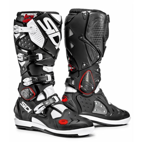 Sidi Crossfire 2 SRS offroad boots black white