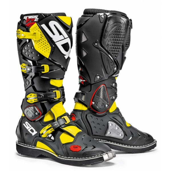 Sidi Crossfire offroad boots yellow fluo black