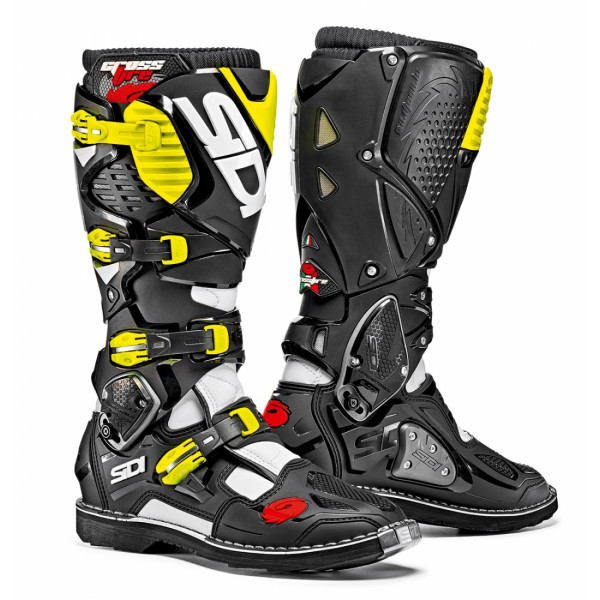 Sidi Crossfire 3 offroad boots white black yellow