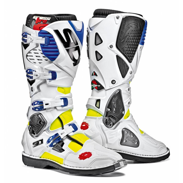 Sidi Crossfire 3 offroad boots yellow white blue