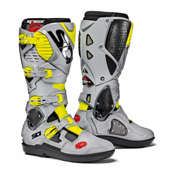 Sidi Crossfire 3 SRS offroad boots black grey yellow fluo