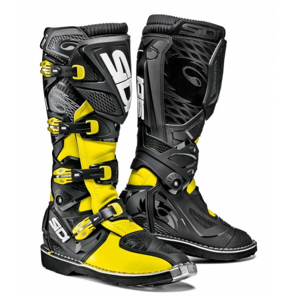 Sidi X-3 offroad boots yellow black