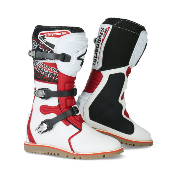Stylmartin off road boots Impact Pro white red