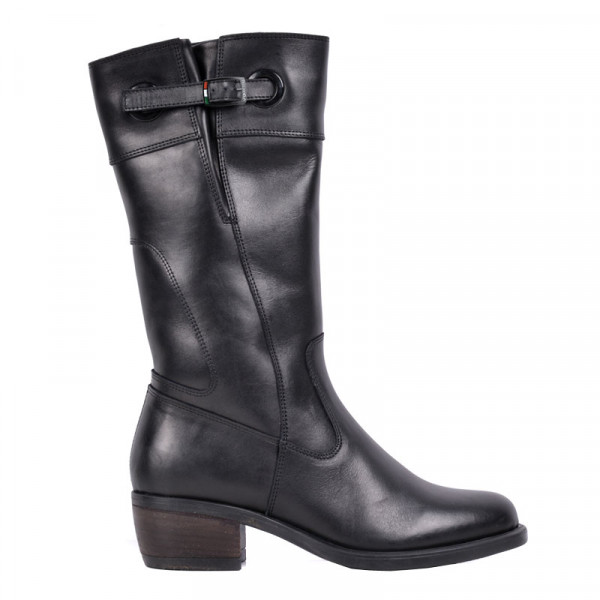 VQuattro LIVIA leather motorcycle boots black