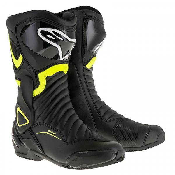Alpinestars SMX6 V2 racing boots Black Yellow