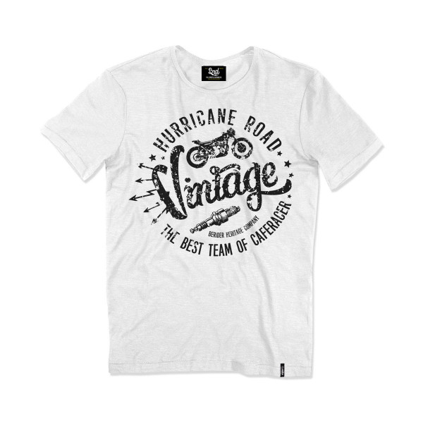 Berider T-shirt Vintage Hurricane Road White