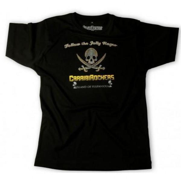 CaraibiRockers t-shirt Jolly Roger black