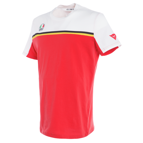 Dainese T-shirt Fast 7 white red