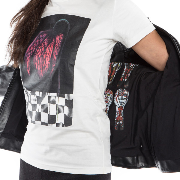 Dainese72 DEMON-FLOWER72 LADY t-shirt White