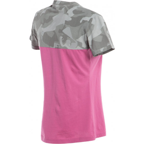 Dainese CAMO-TRACKS LADY t-shirt Fuxia Camo