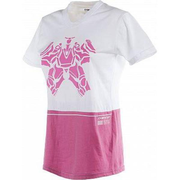 Dainese LAGUNA SECA LADY t-shirt White Fuxia