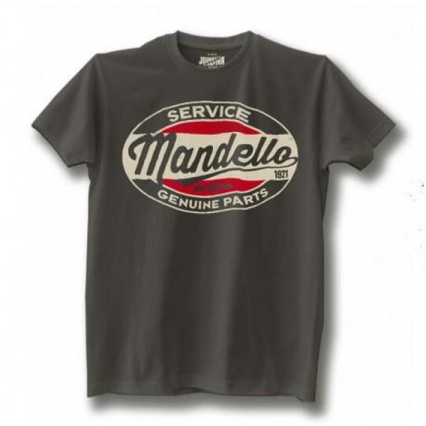 Johnny Rapina t-shirt Mandello Genuine Parts grey