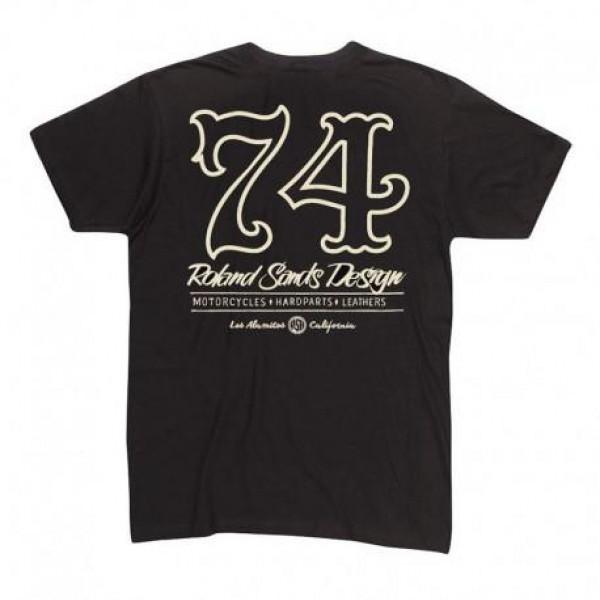 ROLAND SANDS DESIGN Seventy Four T-Shirt Black