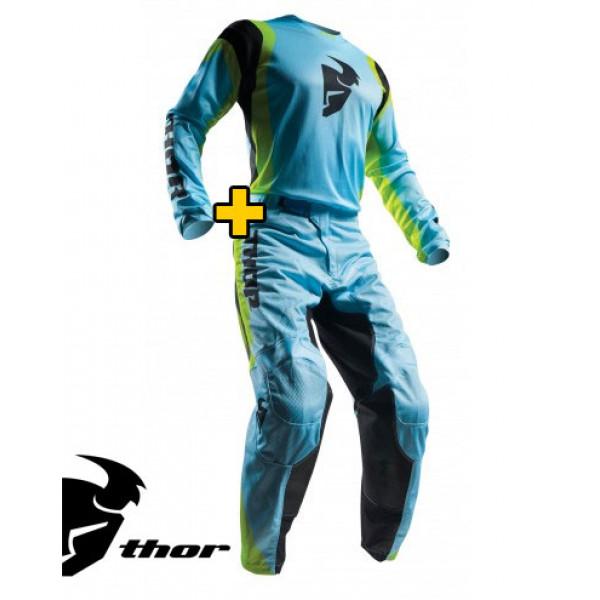 Completo Cross Maglia+Pantaloni Thor Pulse Air Blu