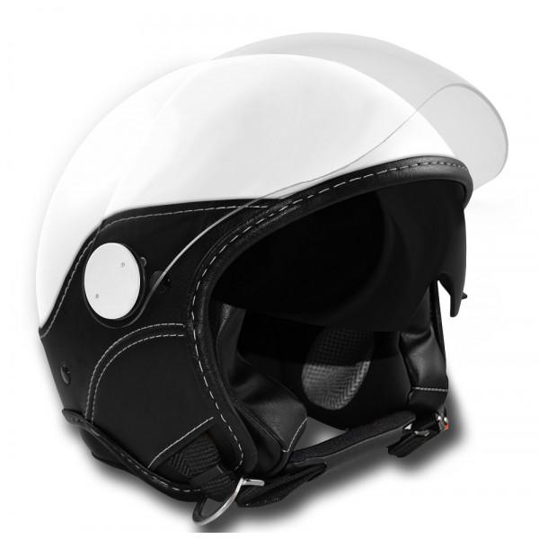 Casco jet LS Trendy Vision Doppia Visiera bianco nero