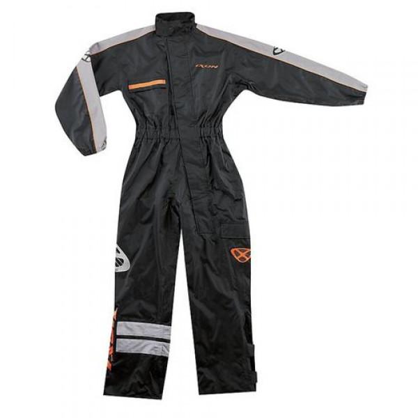 Ixon R8.8 motorcycle Rain Suit Black gray orange