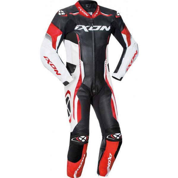 Ixon VORTEX JUNIOR kid summer leather suit Black White Red