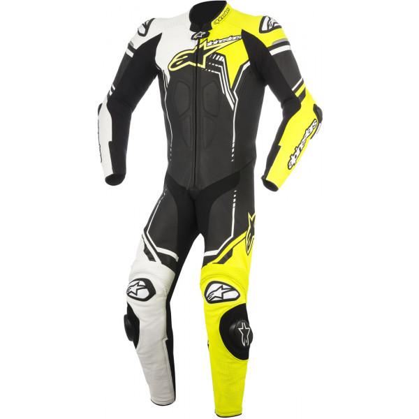 Alpinestars leather suit GP Plus V2 black white fluo yellow