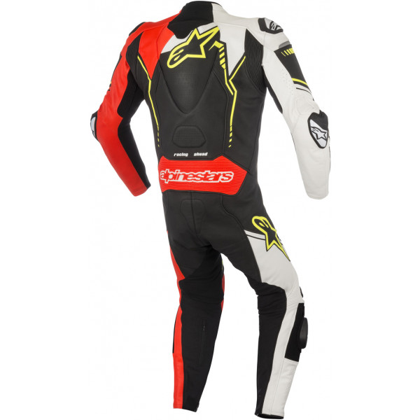 Alpinestars leather suit GP Plus V2 black white fluo red fluo yellow