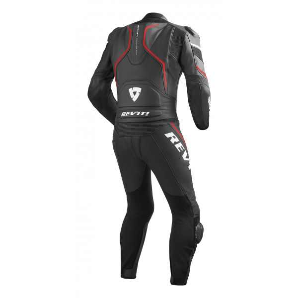 Rev'it Vertex Pro leather summer divisible suit Black Red