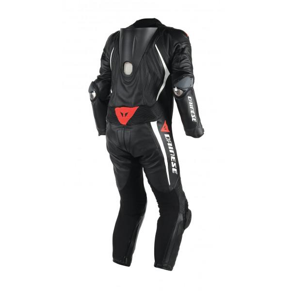 Dainese Laguna Seca D1 leather summer suit Black black White