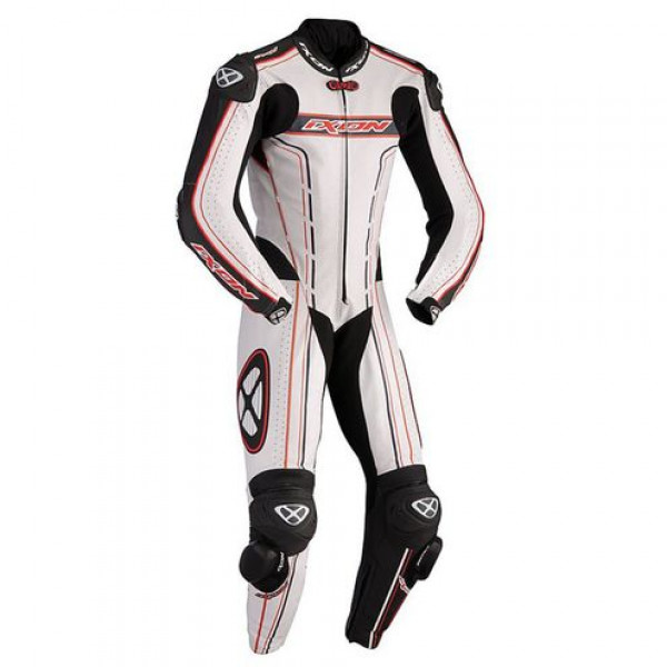 Ixon Zenith summer motorcycle Kangaroo Leather Suit Red