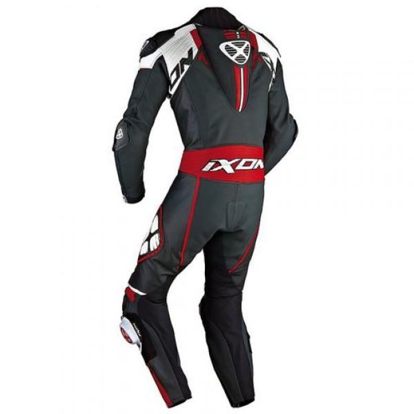 Ixon Mirage summer motorcycle Kangaroo Leather Suit Black White Red